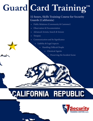 32-hours, Skills Training Course for Security Guards (California)